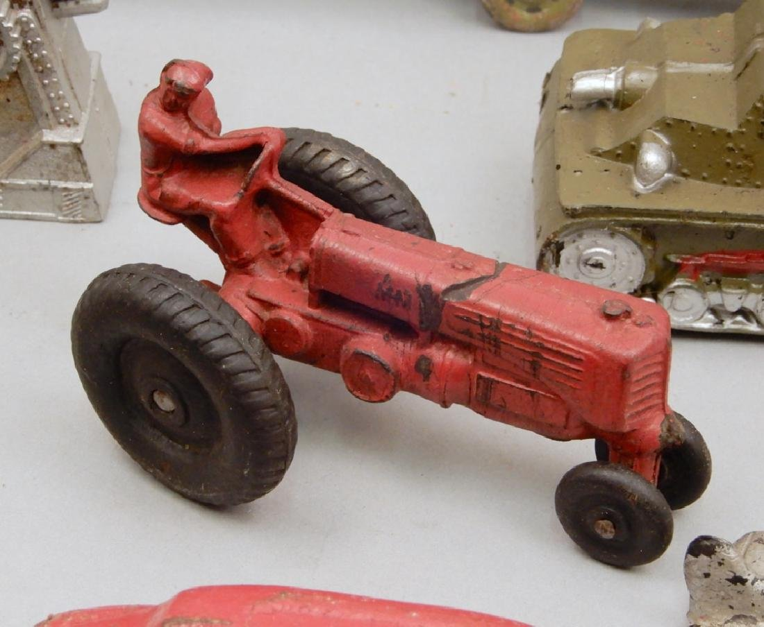 Collection of cast iron and rubber vehicles - 4