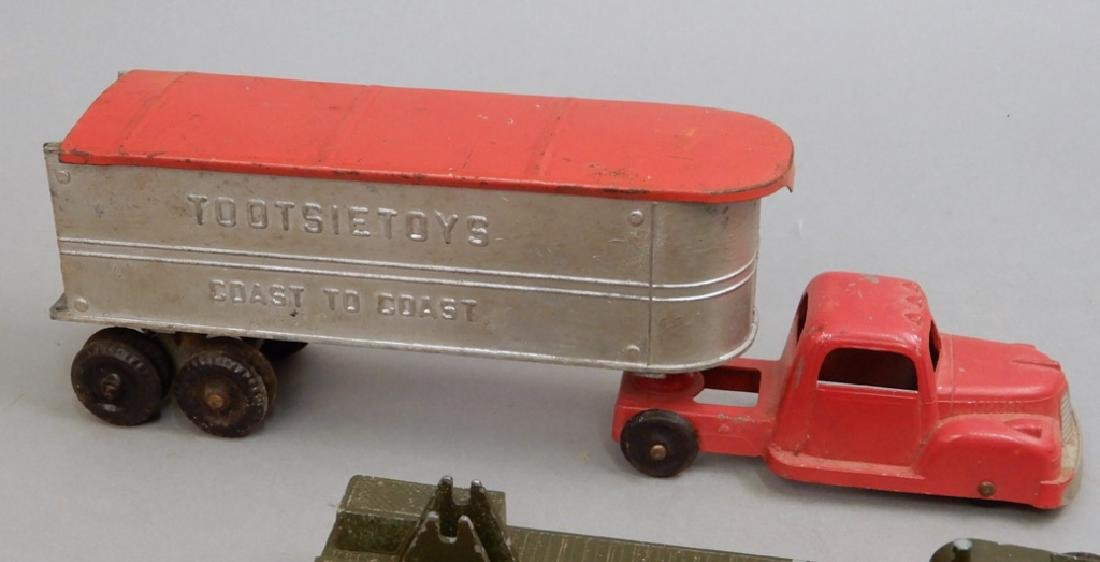 Five Tootsietoys diecast trucks and trailers - 2