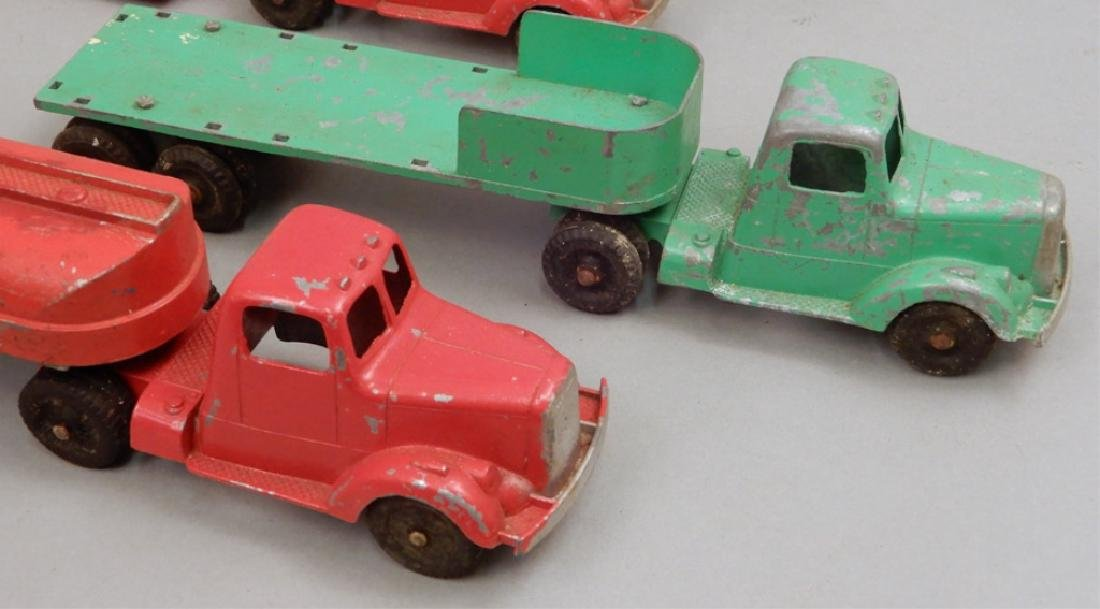 Five Tootsietoys diecast trucks and trailers - 4
