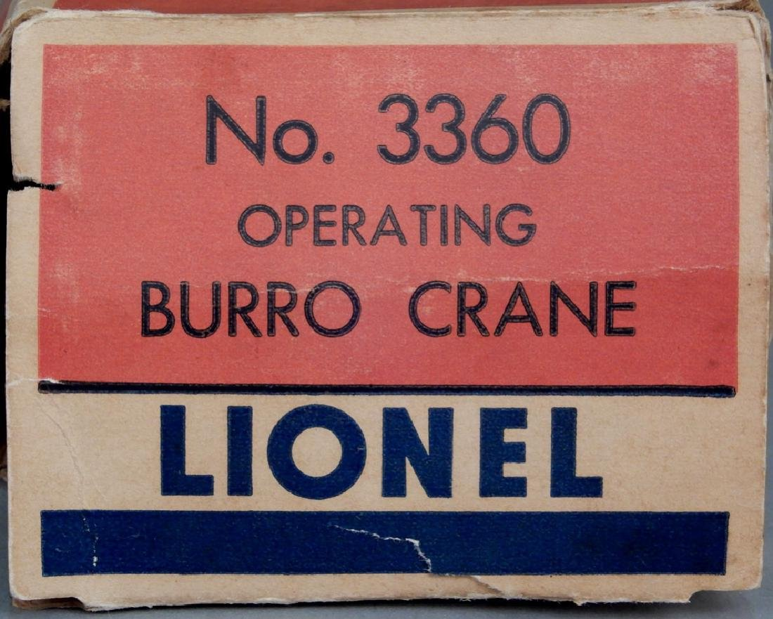 Lionel No. 3360 Operating Burro Crane in original box - 2