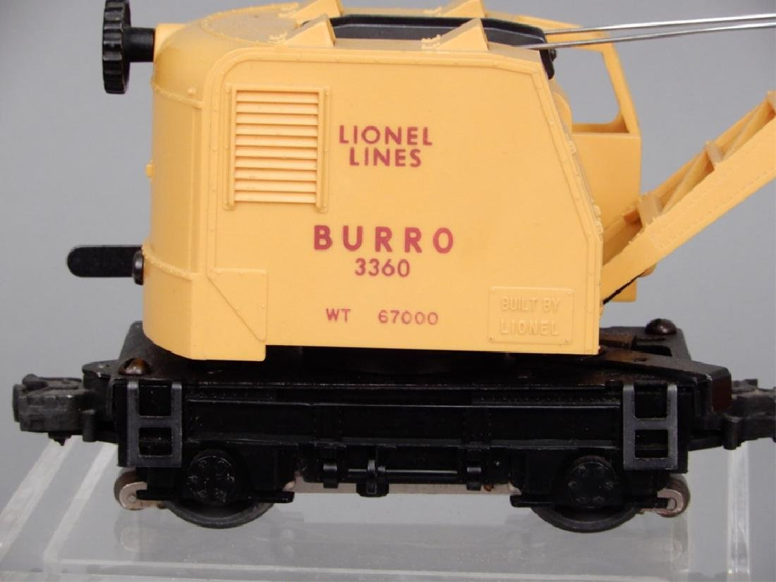 Lionel No. 3360 Operating Burro Crane in original box - 3