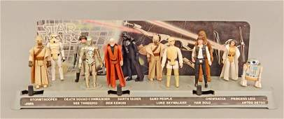 Star Wars 1977 display platform with original figures