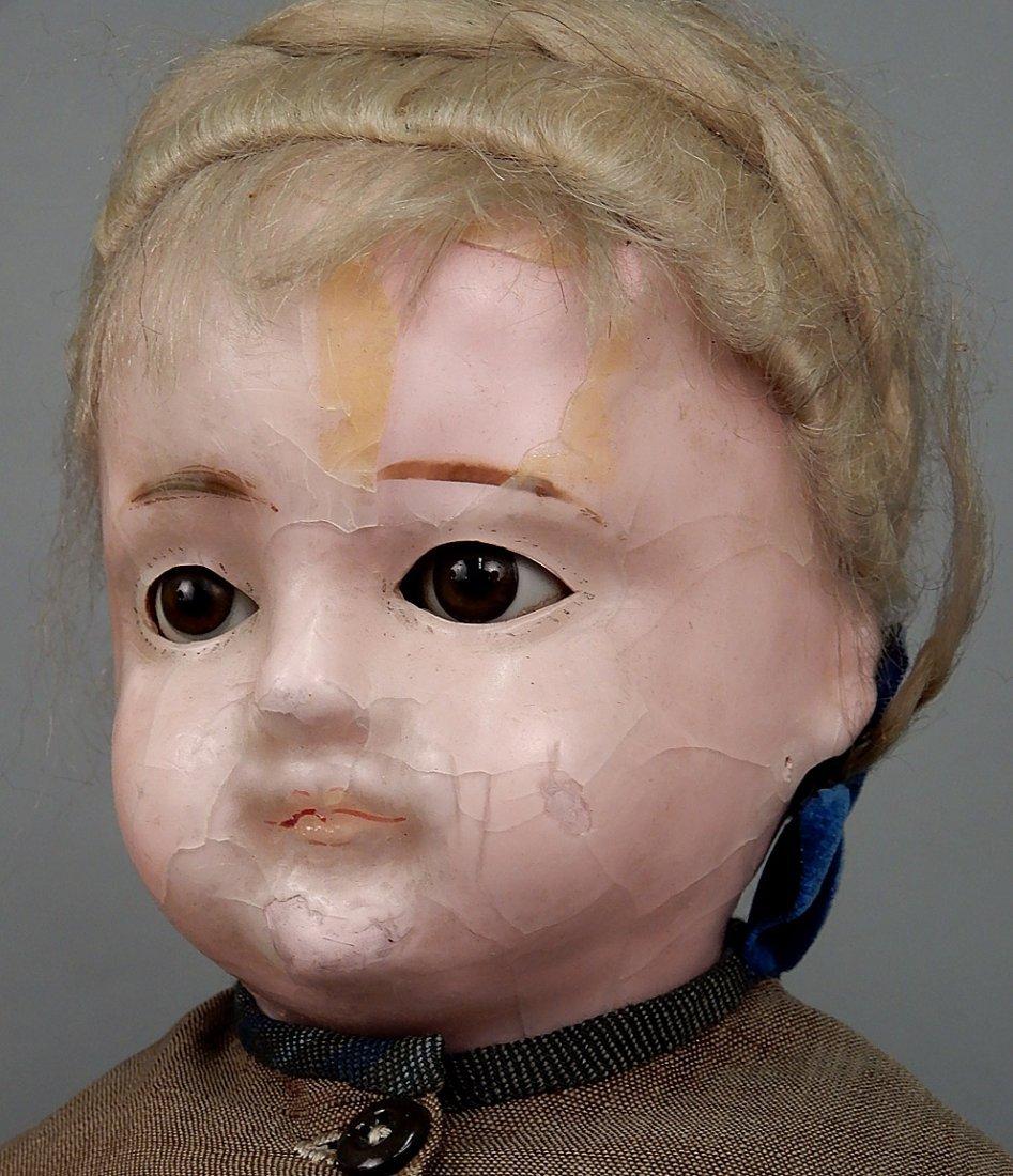 Two wax shoulder head dolls - 3