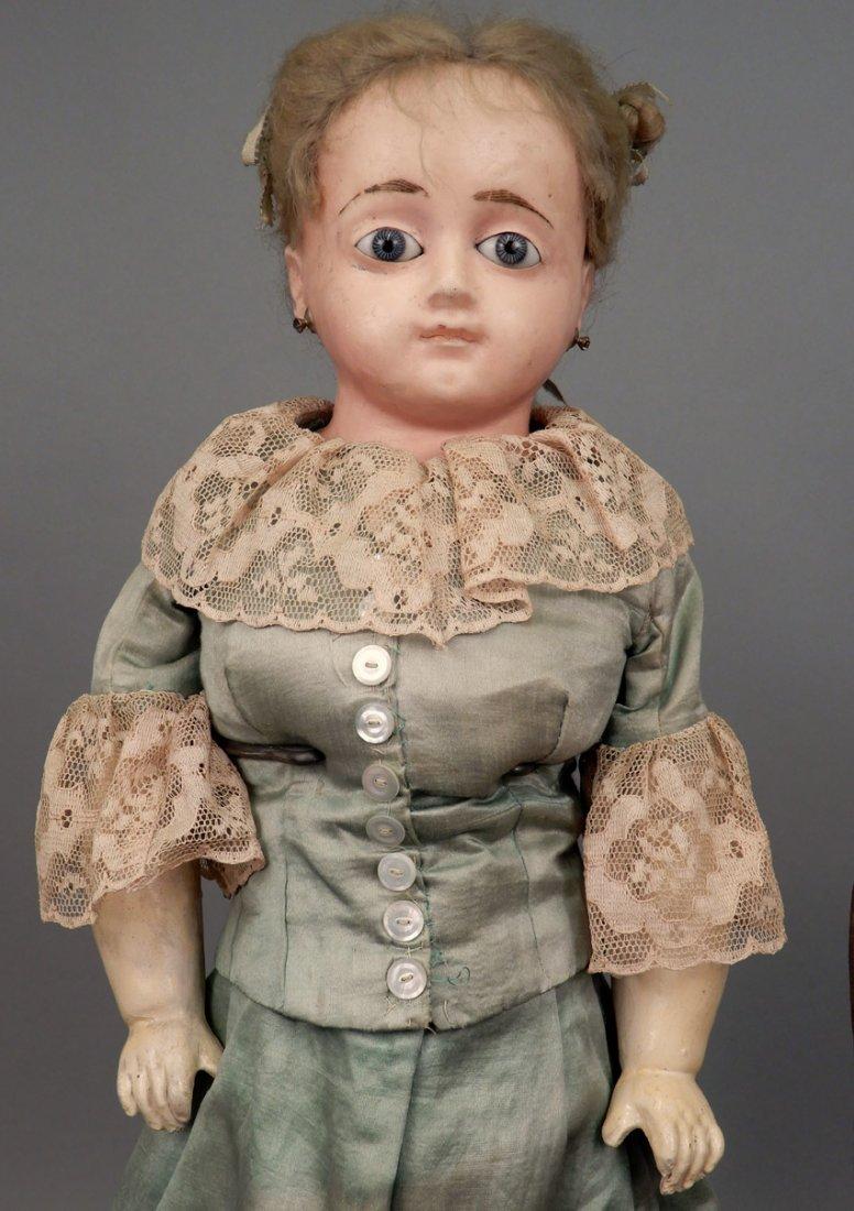Two wax shoulder head dolls - 4