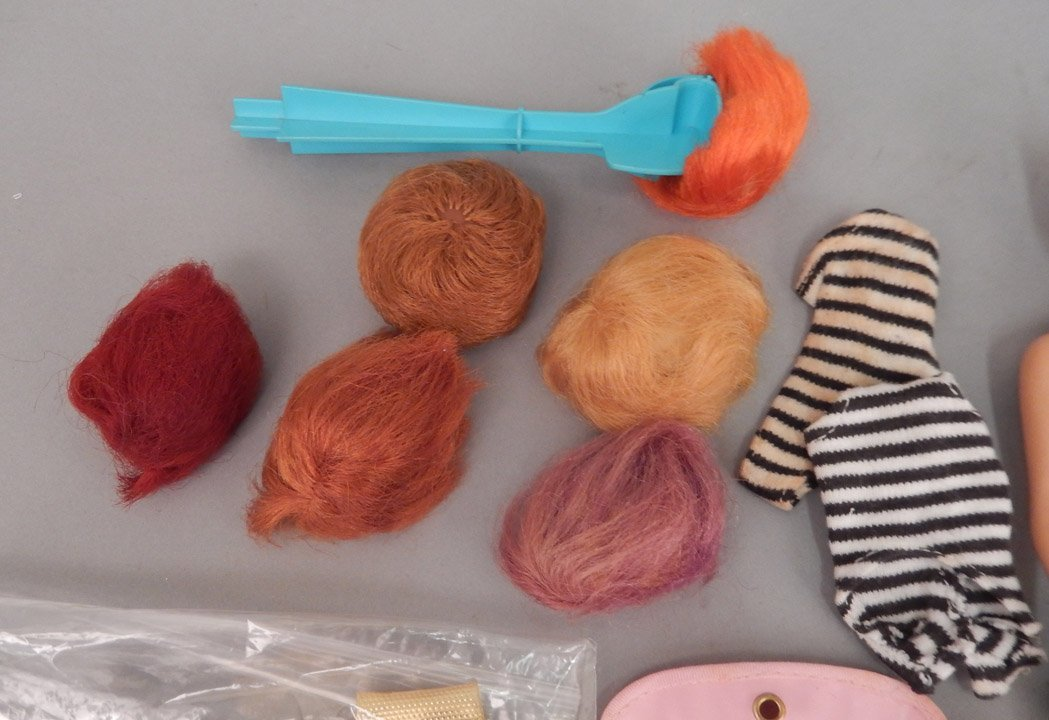 Grouping of Barbie dolls, Barbie heads, and shoes - 4