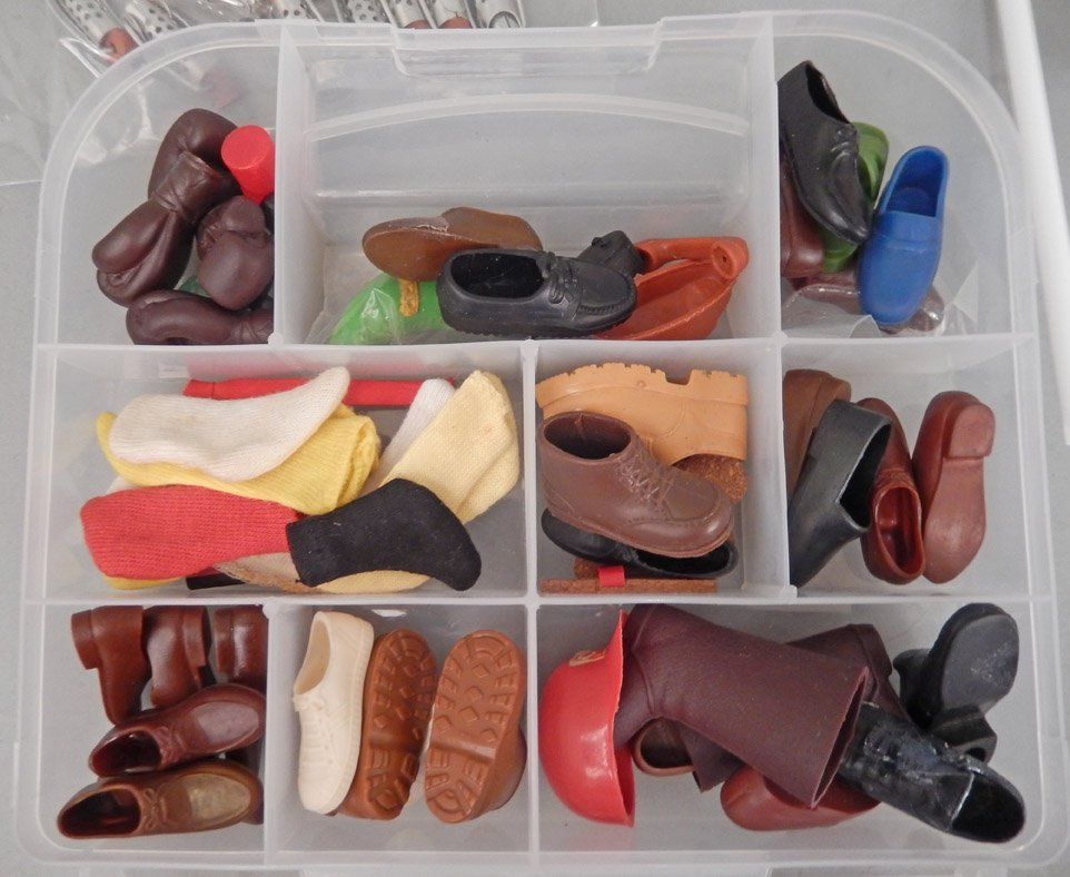 Grouping of Barbie dolls, Barbie heads, and shoes - 6