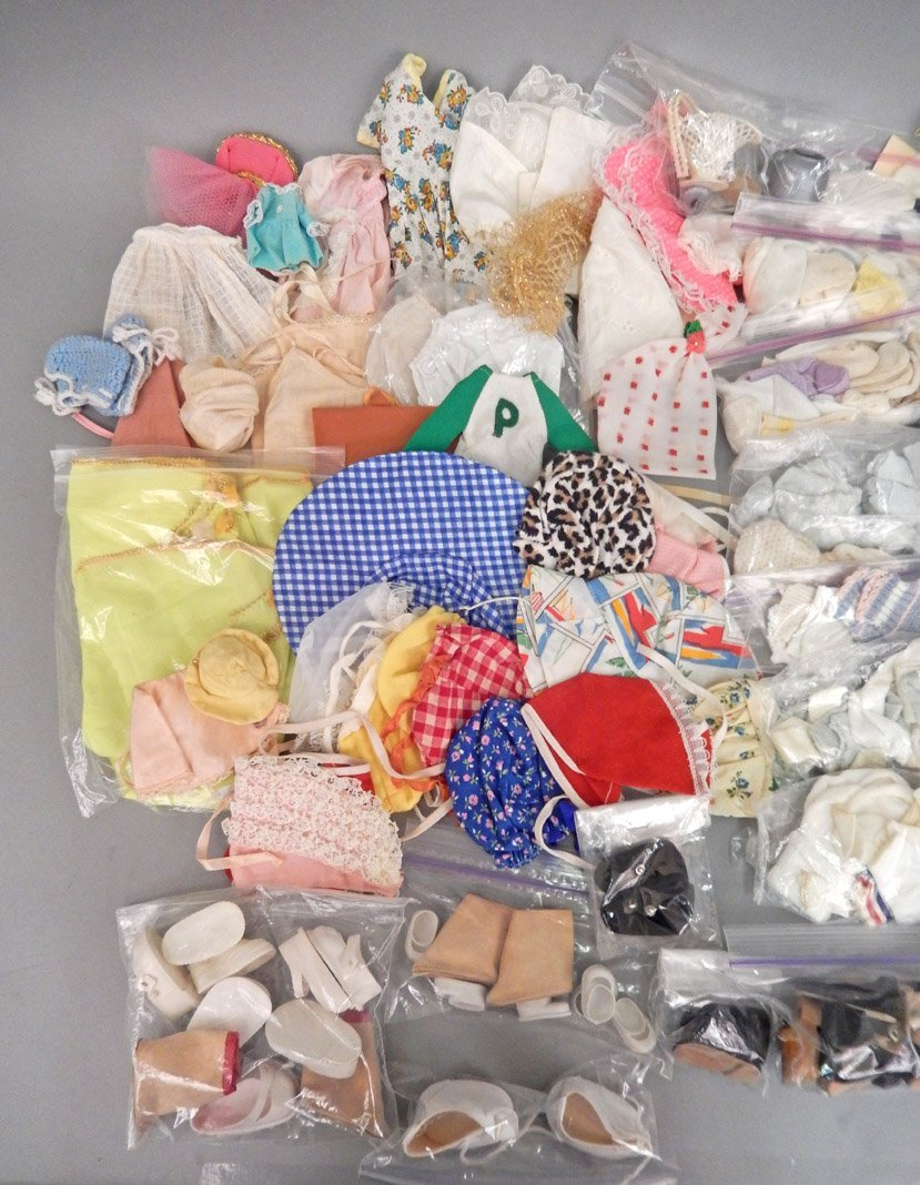 Large grouping of doll clothes and shoes - 3