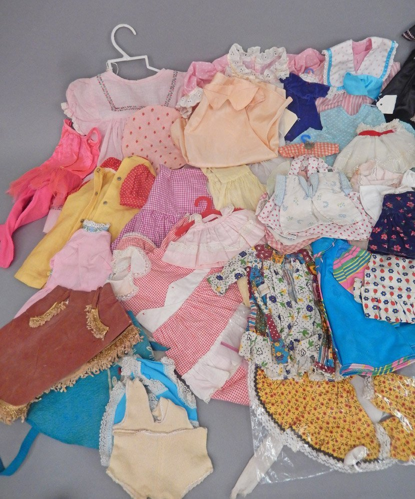 Large grouping of doll clothes, various sizes - 3