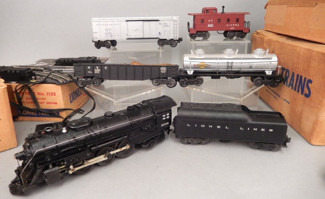 Lionel postwar O27 gauge set 1505WS in boxes, freight - 2