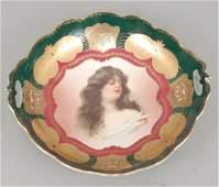 Carlsbad Austria portrait bowl