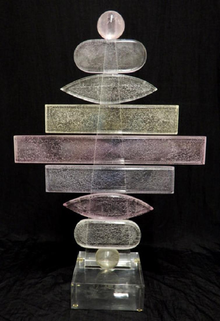 (Hivo) Van Teal acrylic sculpture