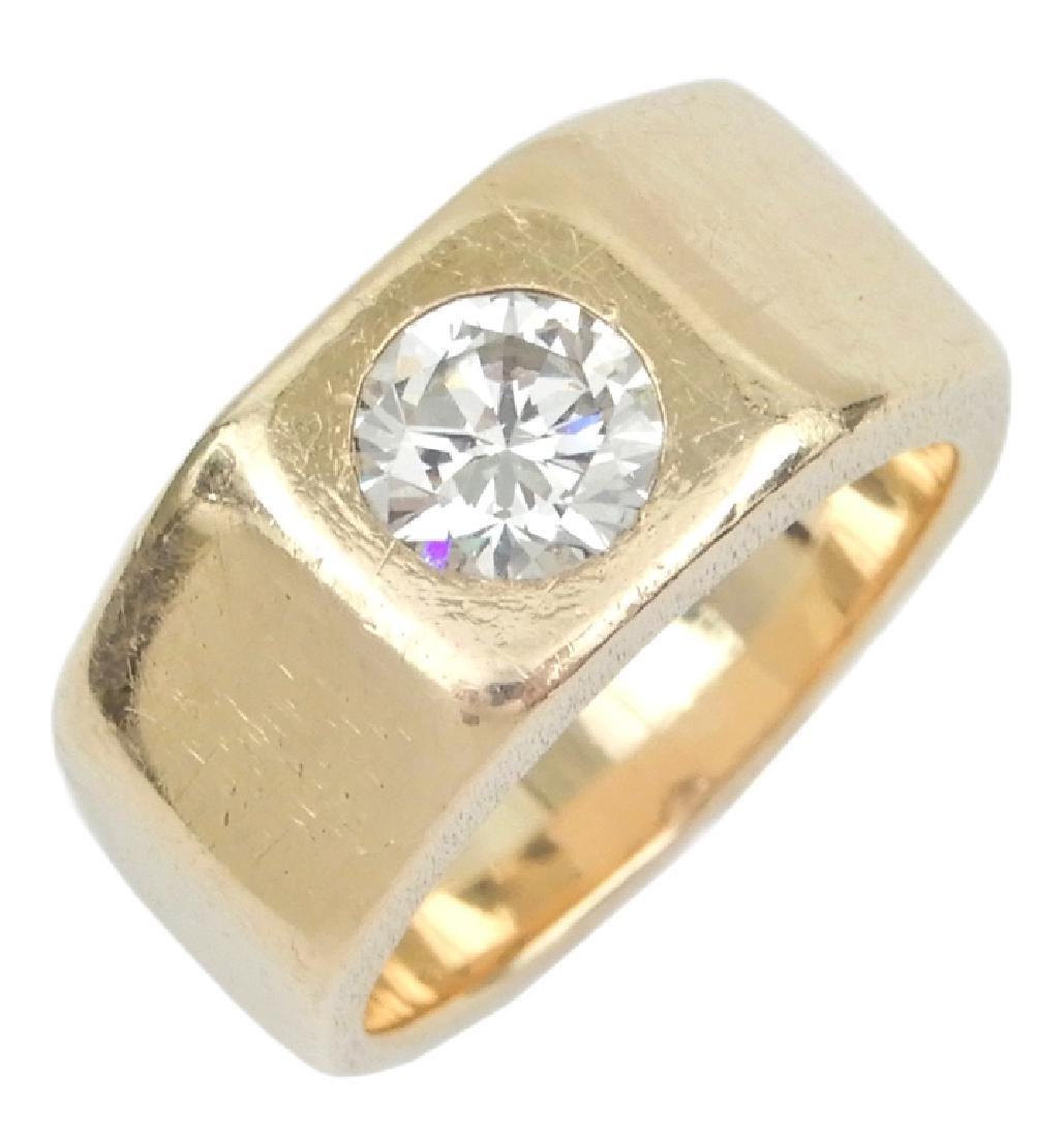 1.10 carat diamond solitaire ring