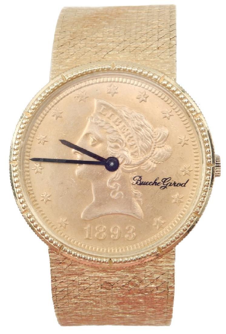 Bueche Girod 18k gold men's wristwatch