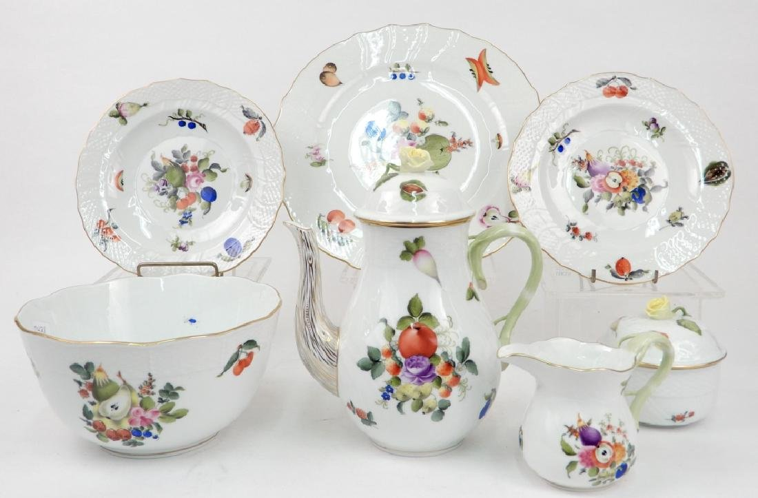 Herend porcelain Fruit and Flowers serving pieces
