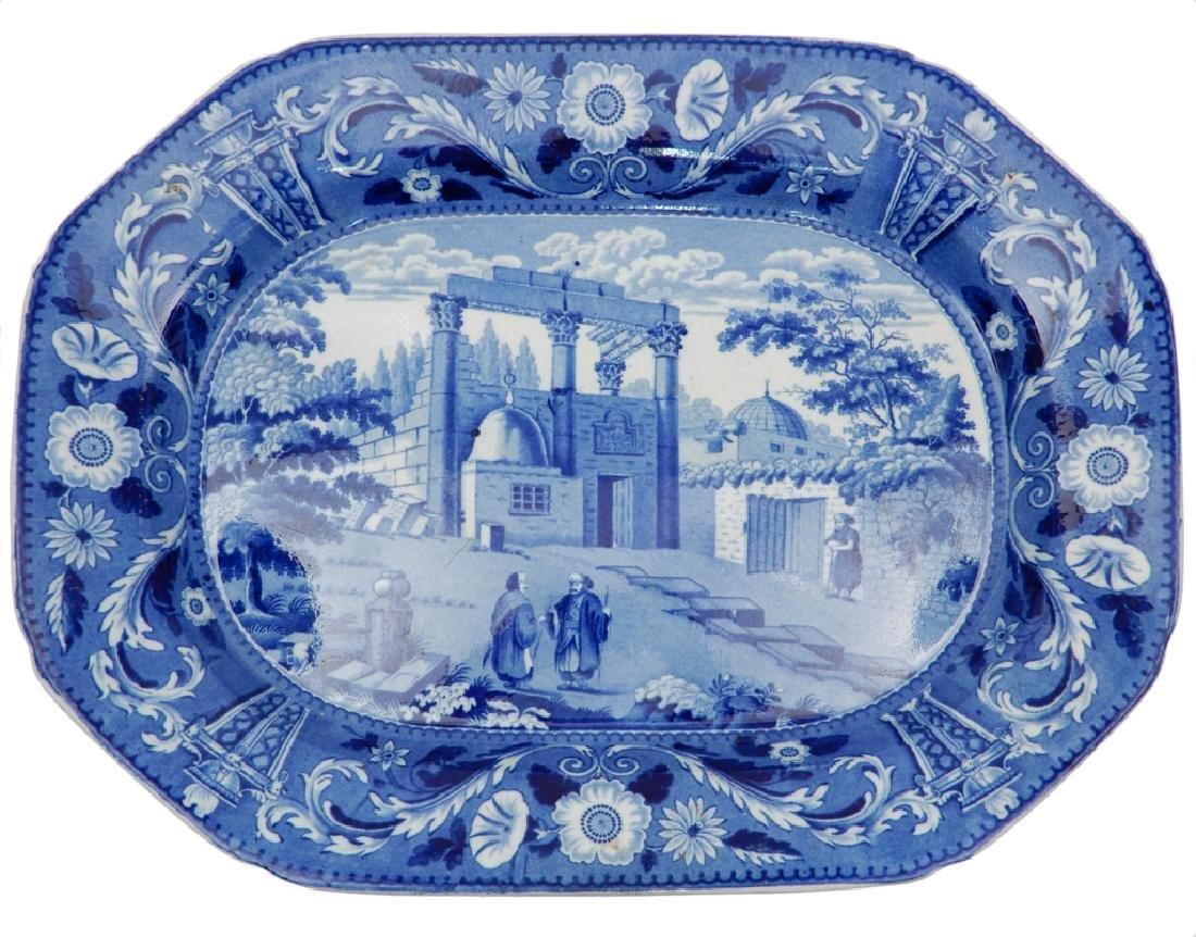 Historic Blue Staffordshire platter