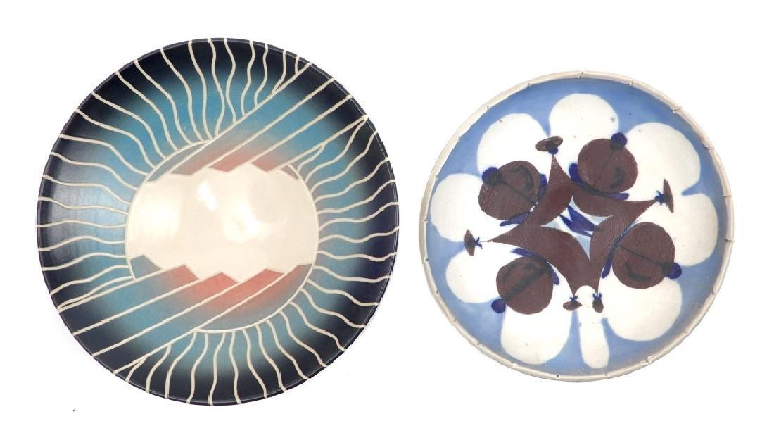Rudolf Staffel and Wayne L. Bates art pottery bowls