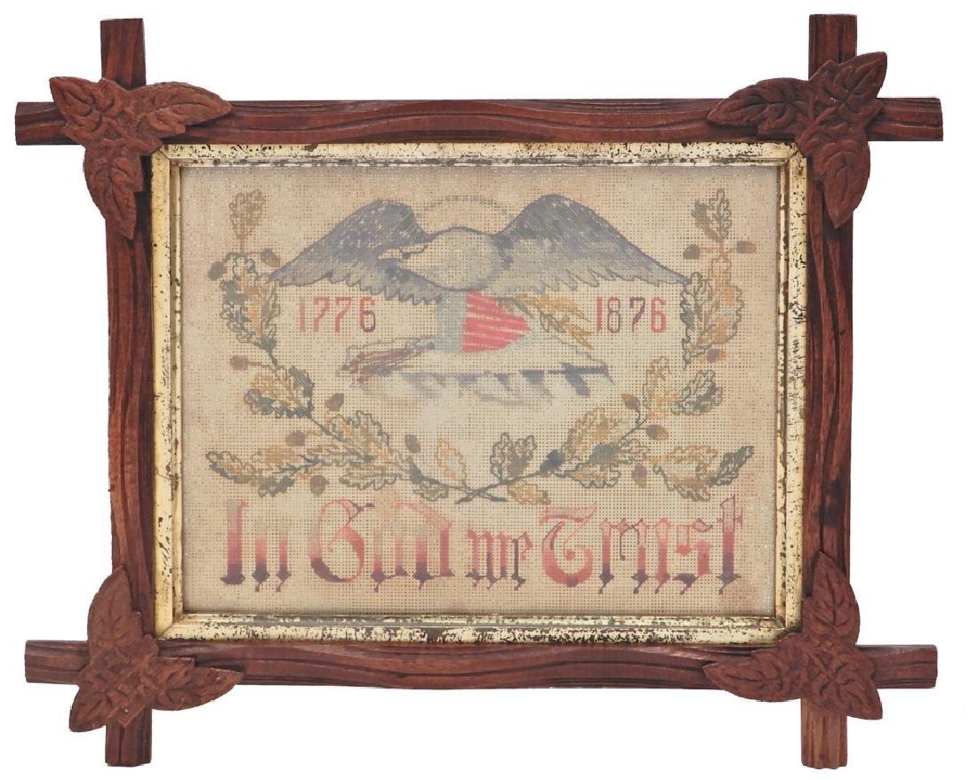 Framed Centennial Sampler
