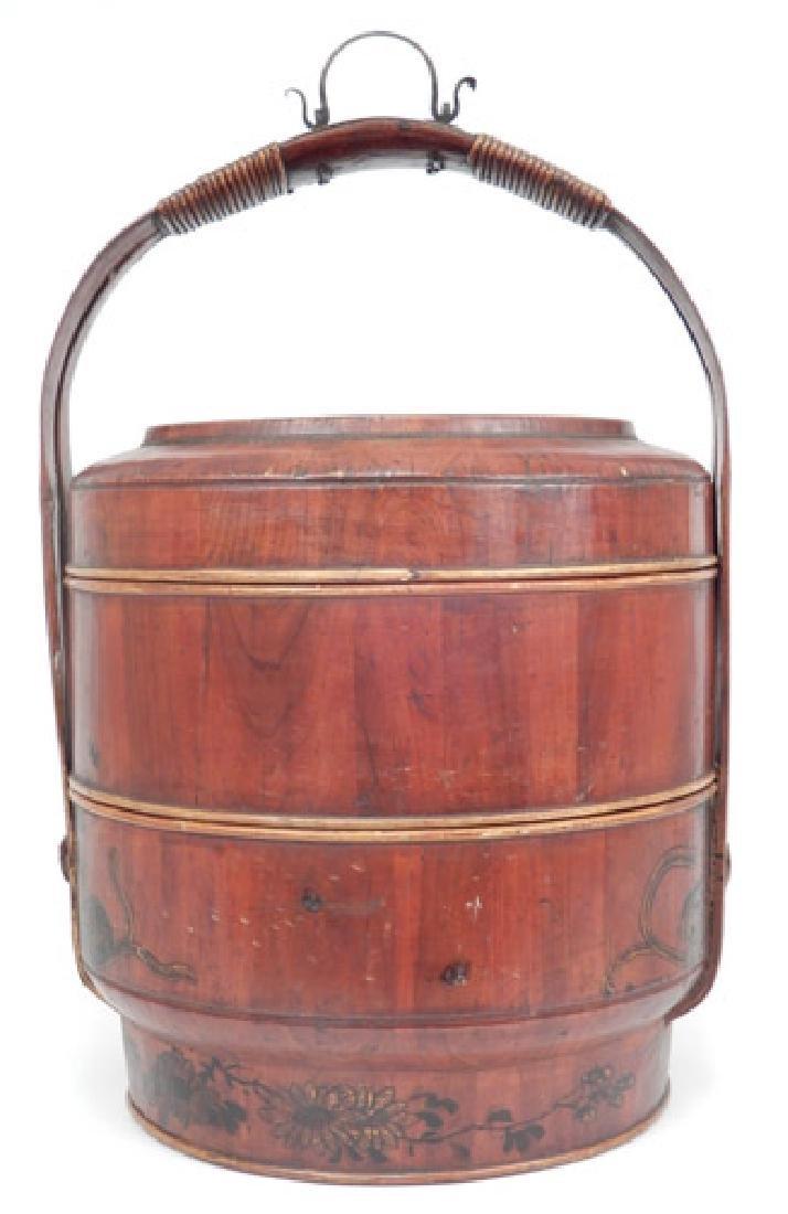 Chinese stacking wedding basket