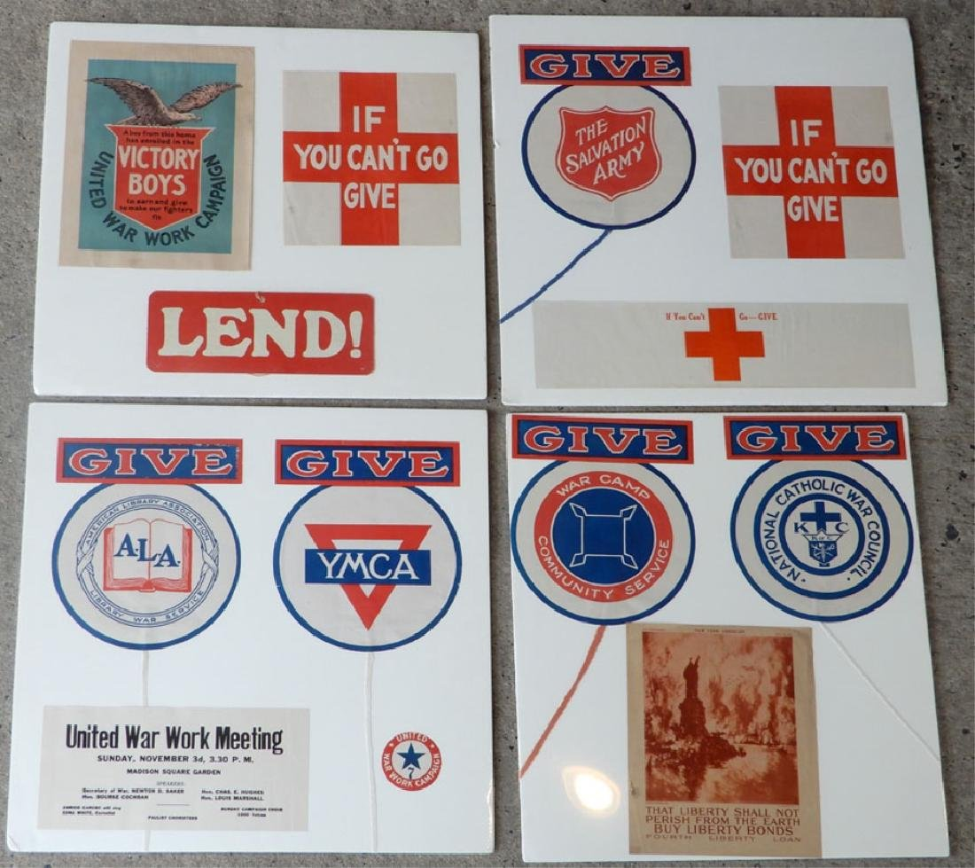 Grouping of lithographic WW1 window displays