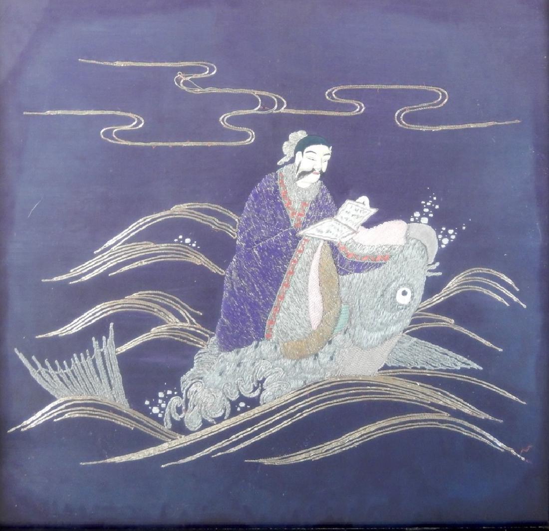 Asian School needlework on silk