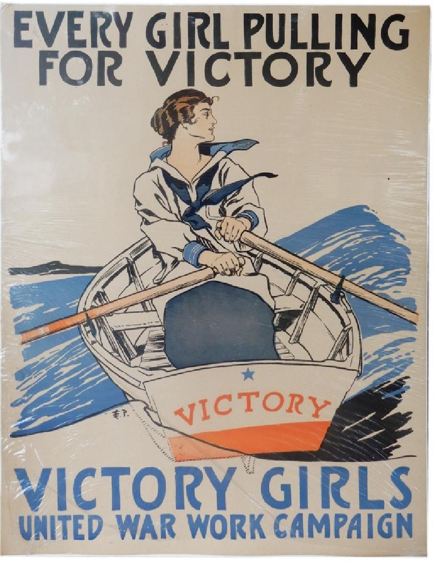 E. (Edward) P. (Penfield) WW1 lithographic poster