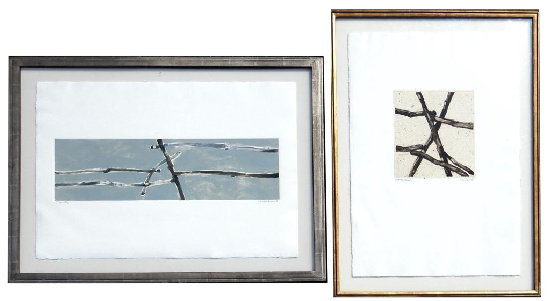 John Fincher two screen prints on paper