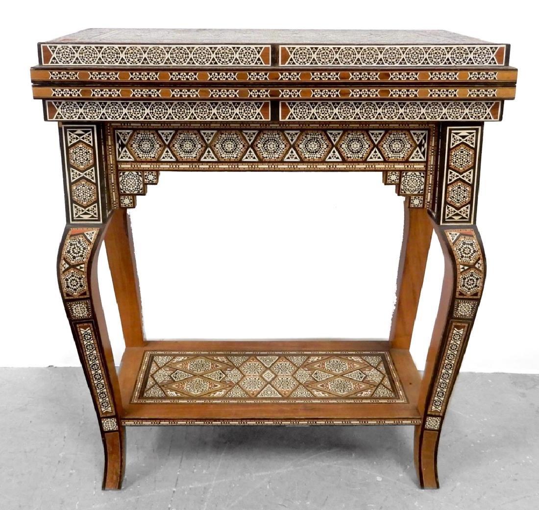 Persian Levantine inlaid game table