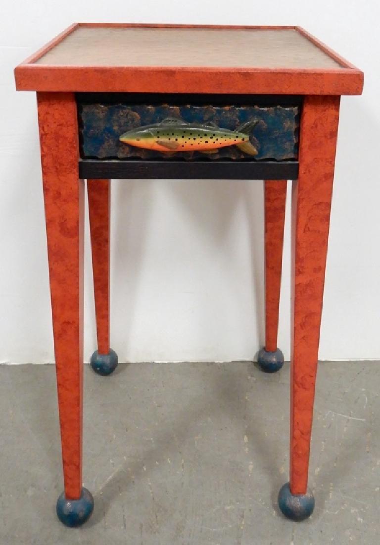 (Richard) DeWalt copper topped fish table