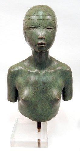 Continental School bronze bust