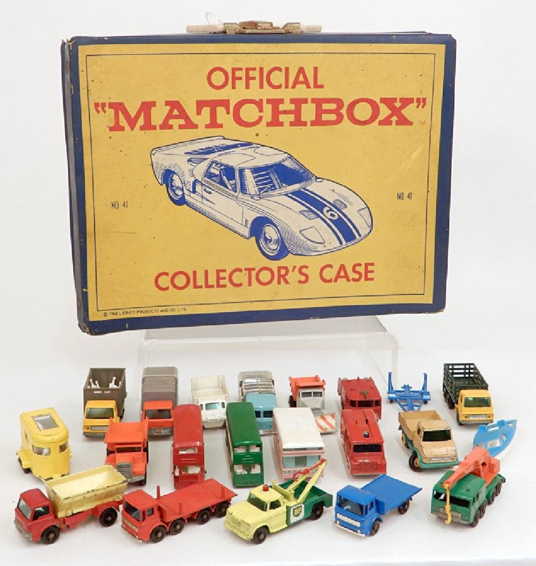Nineteen Matchbox by Lesney toy cars