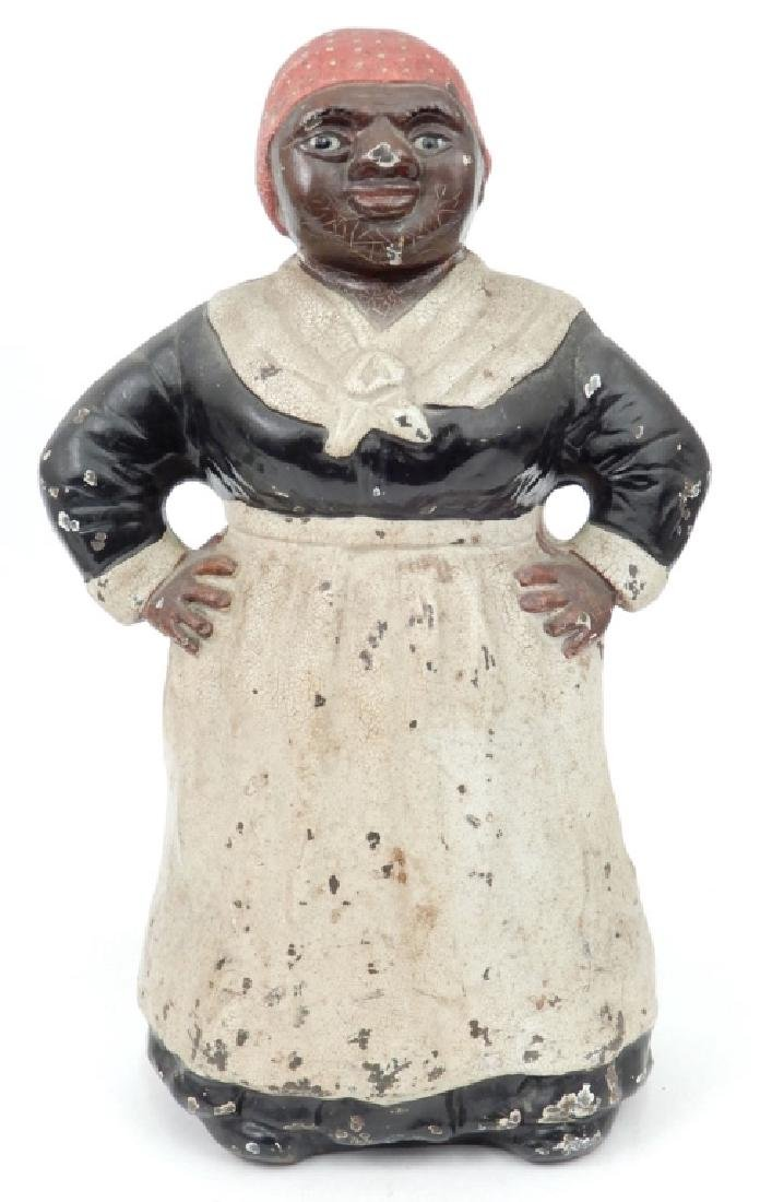 Hubley cast iron painted Aunt Jemima doorstop