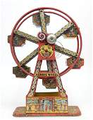 Chein Hercules Ferris Wheel tin litho 16 12 high