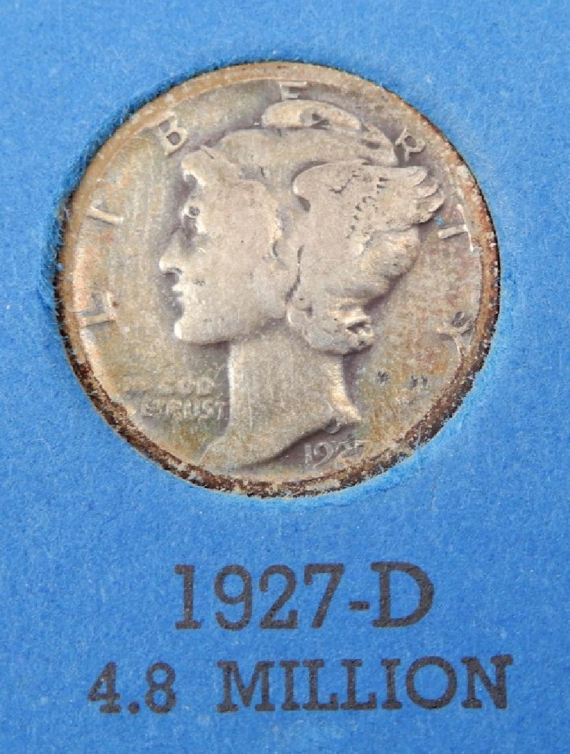 Partially filled book of Mercury dimes - 3
