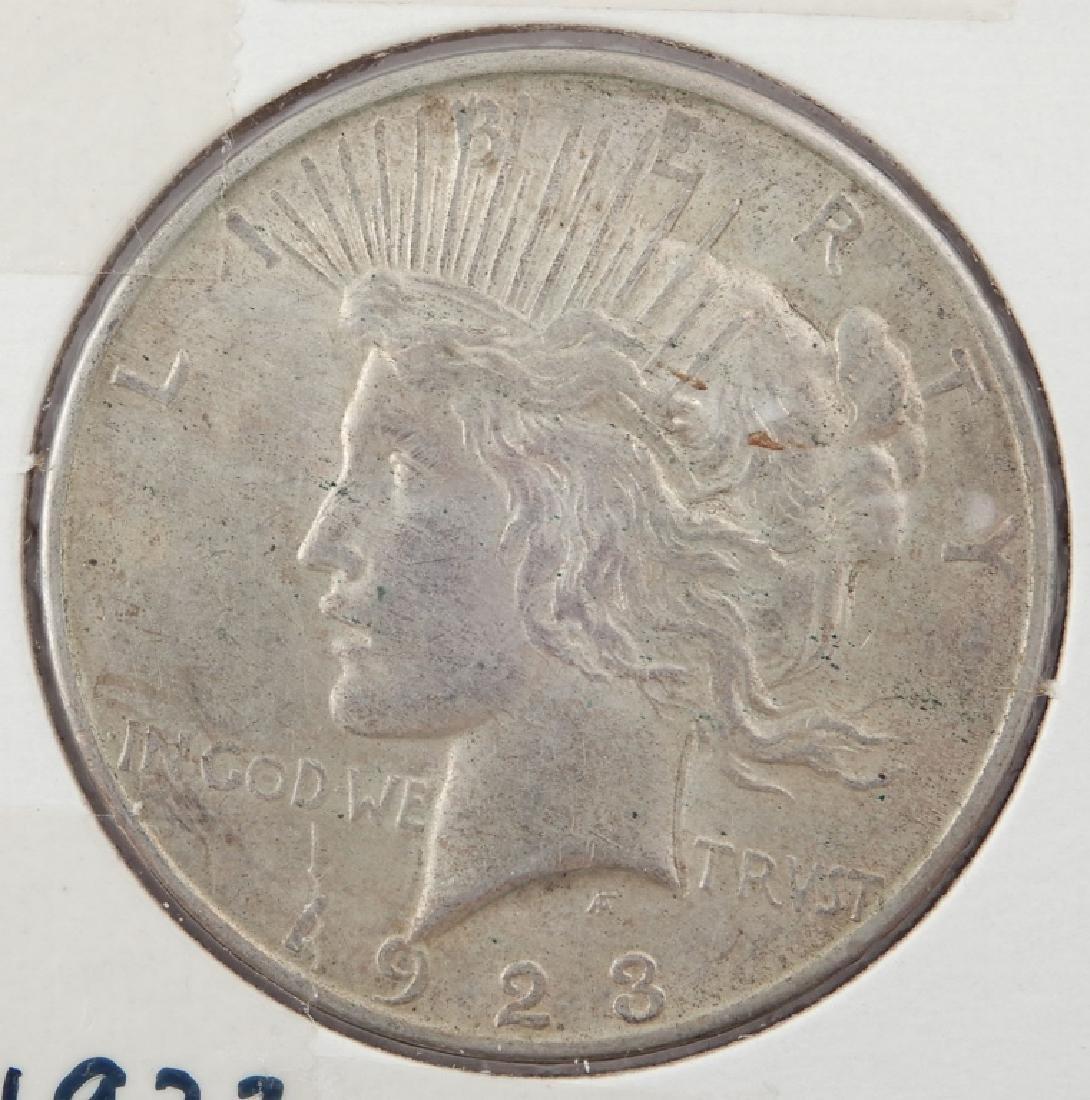 1923-D Peace silver dollar