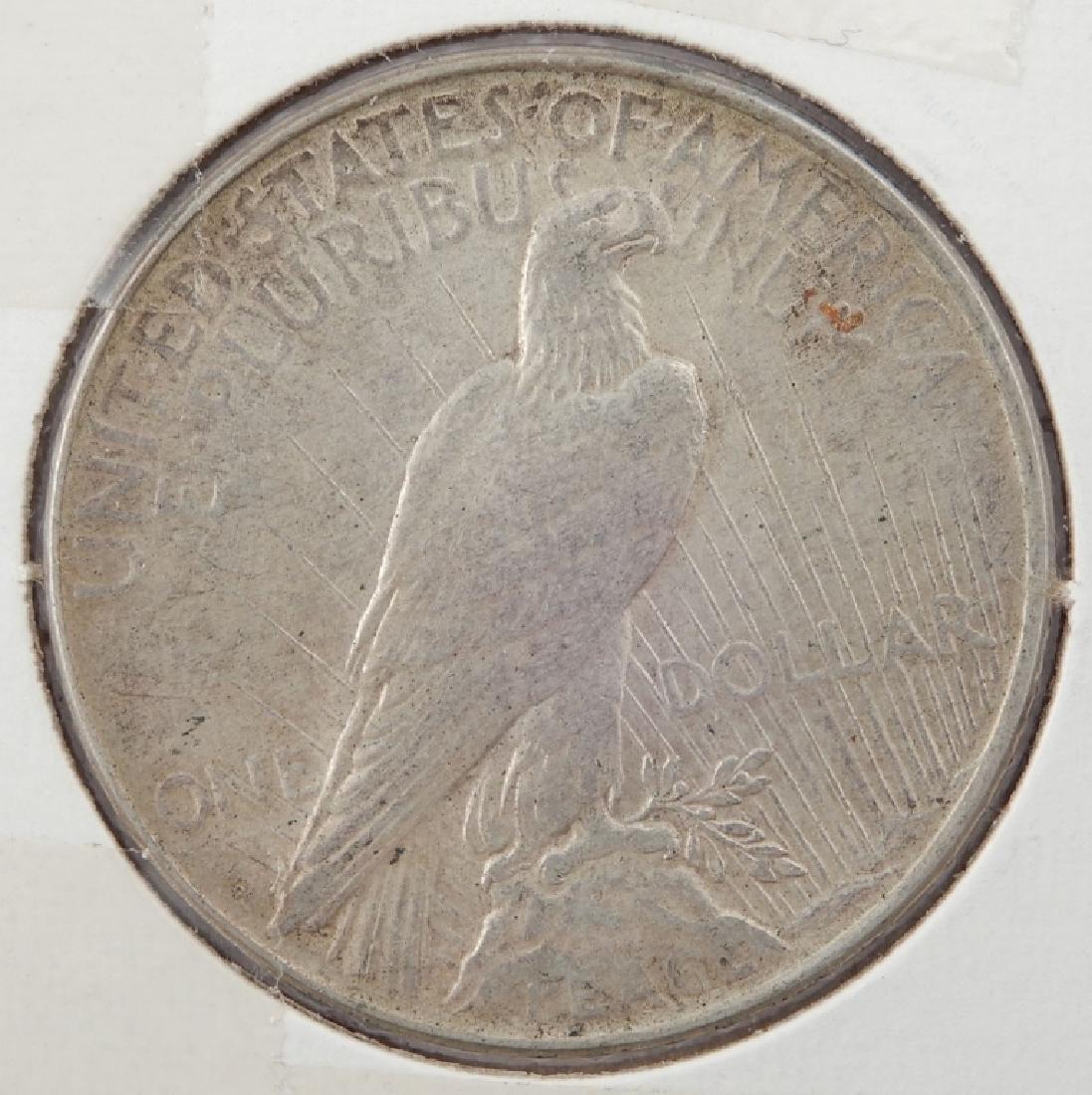 1923-D Peace silver dollar - 2