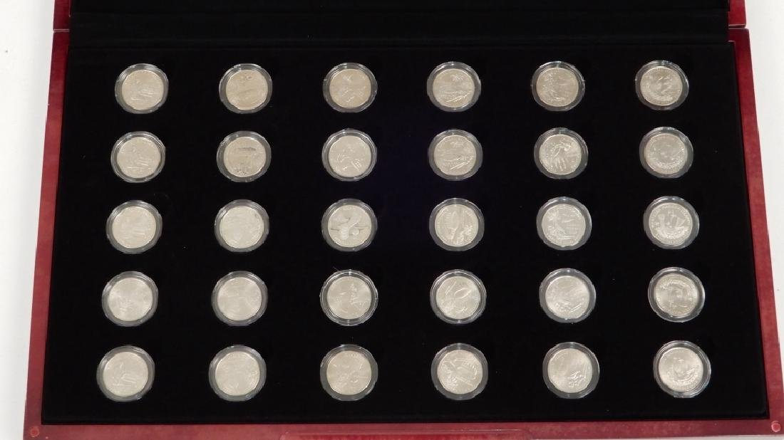 Fifty State Quarter Collection in mahogany display