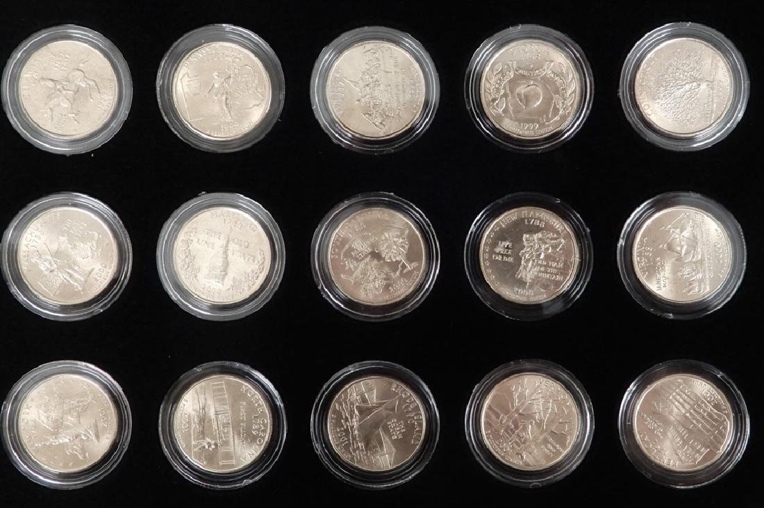 Fifty State Quarter Collection in mahogany display - 4