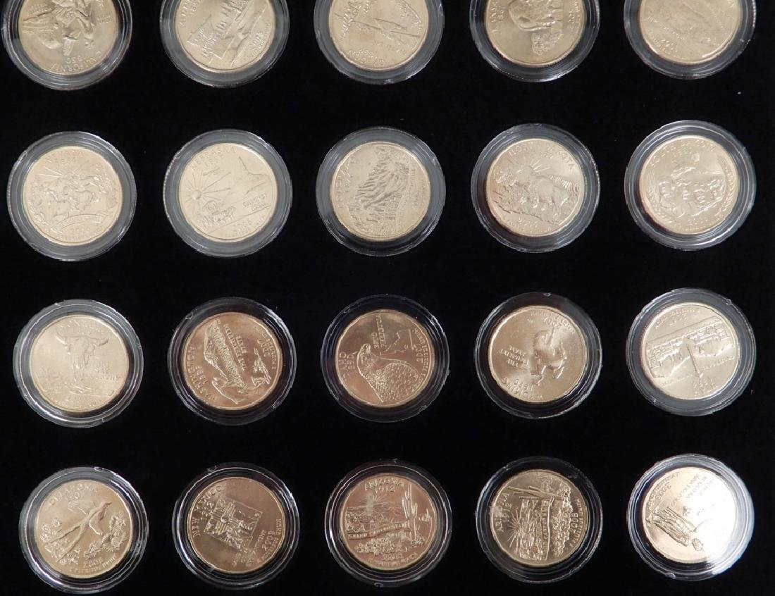 Fifty State Quarter Collection in mahogany display - 5
