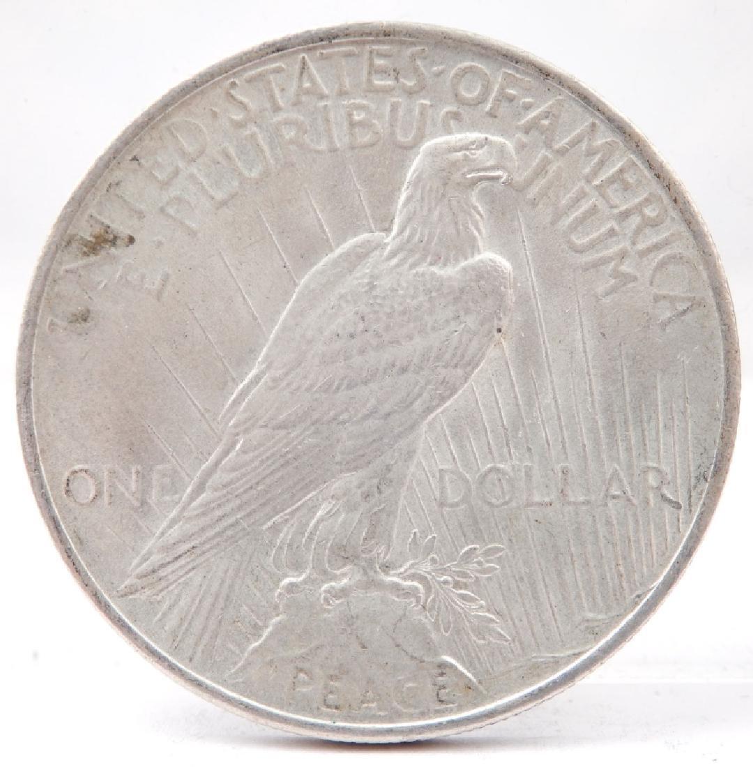 1923 Peace silver dollar - 2