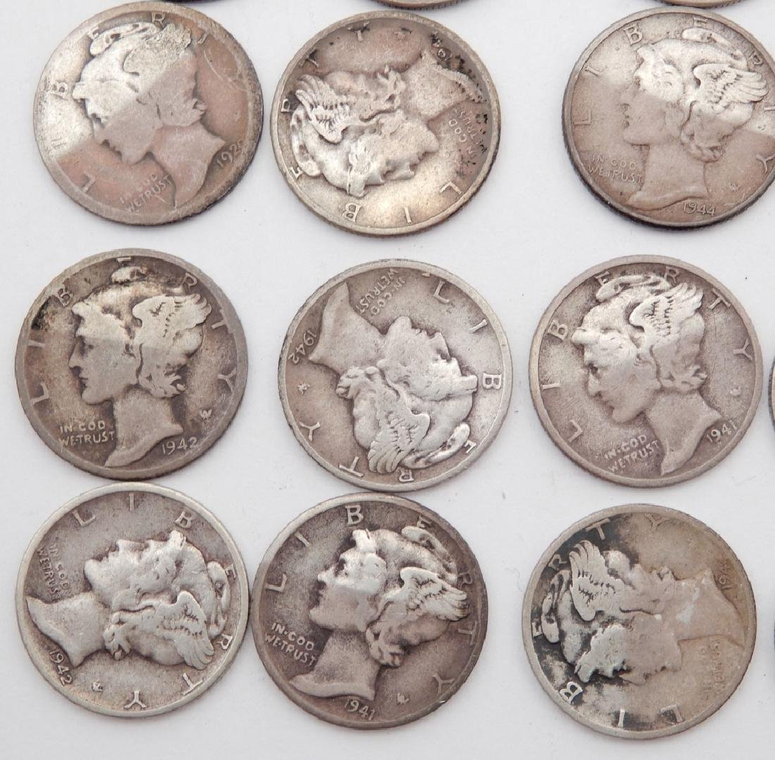 Twenty-nine Mercury dimes - 2