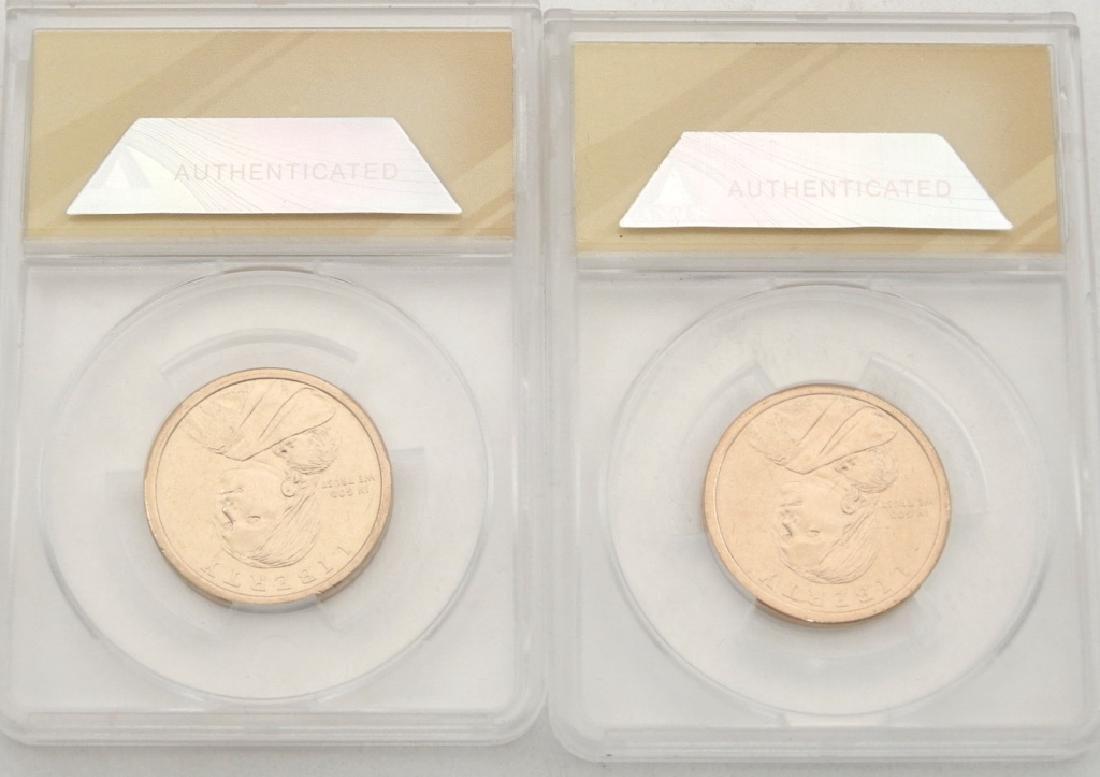 Two MS 67 ANACS Native American Dollars - 2