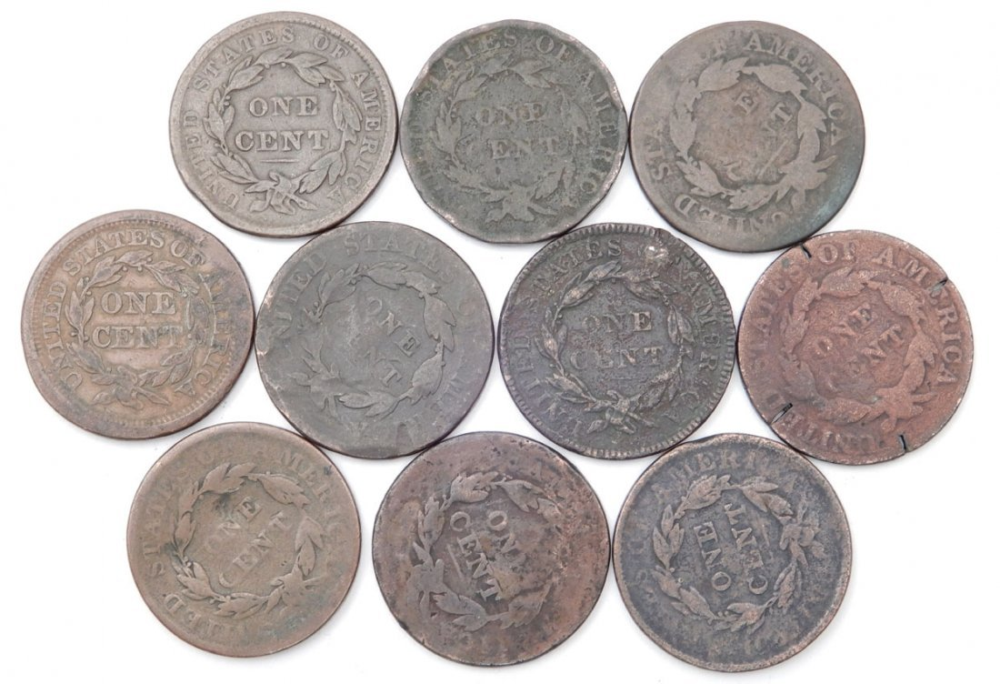Grouping of large cents - 2