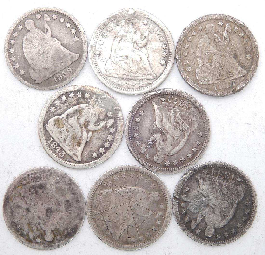Eight half dimes
