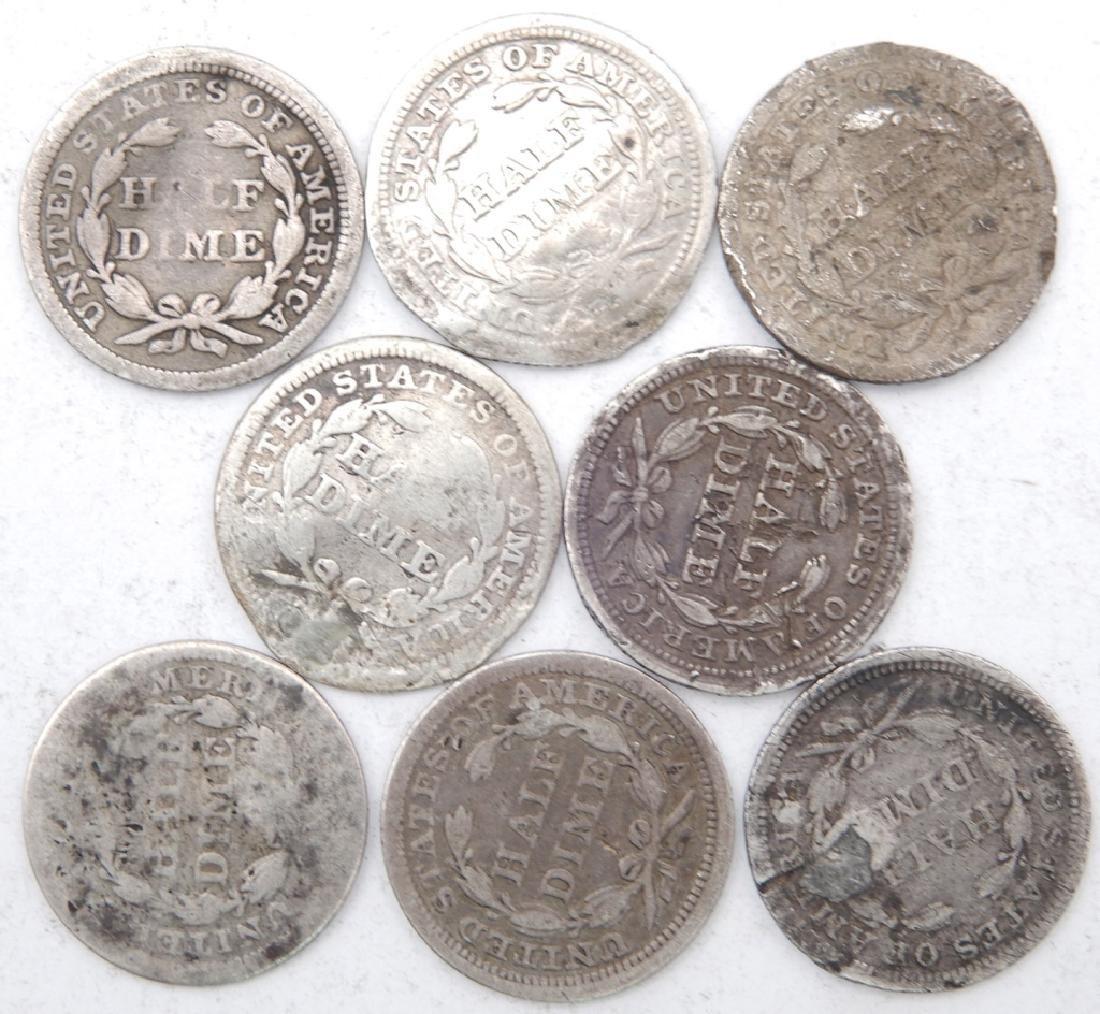 Eight half dimes - 2