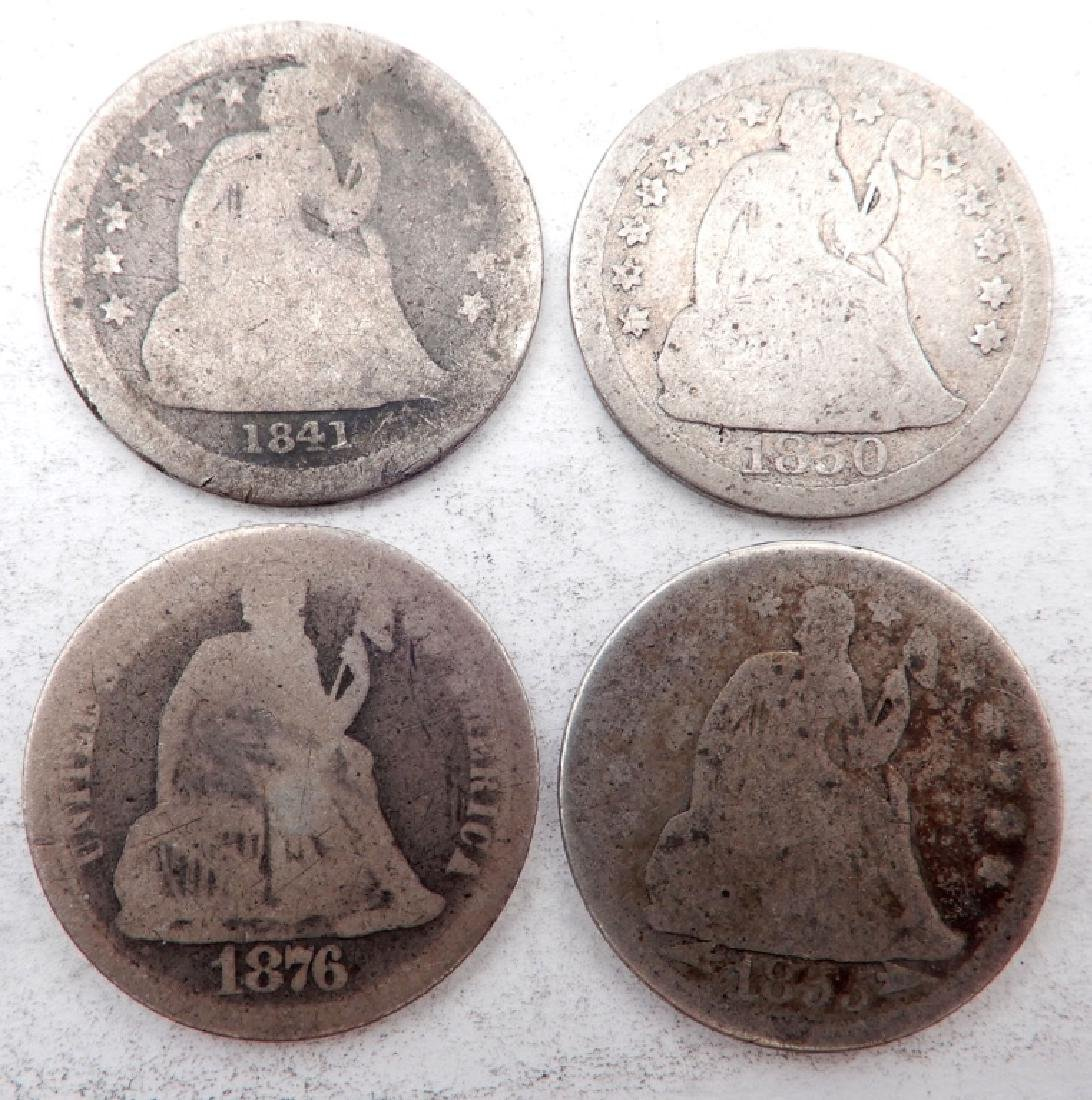 Four Seated Liberty dimes