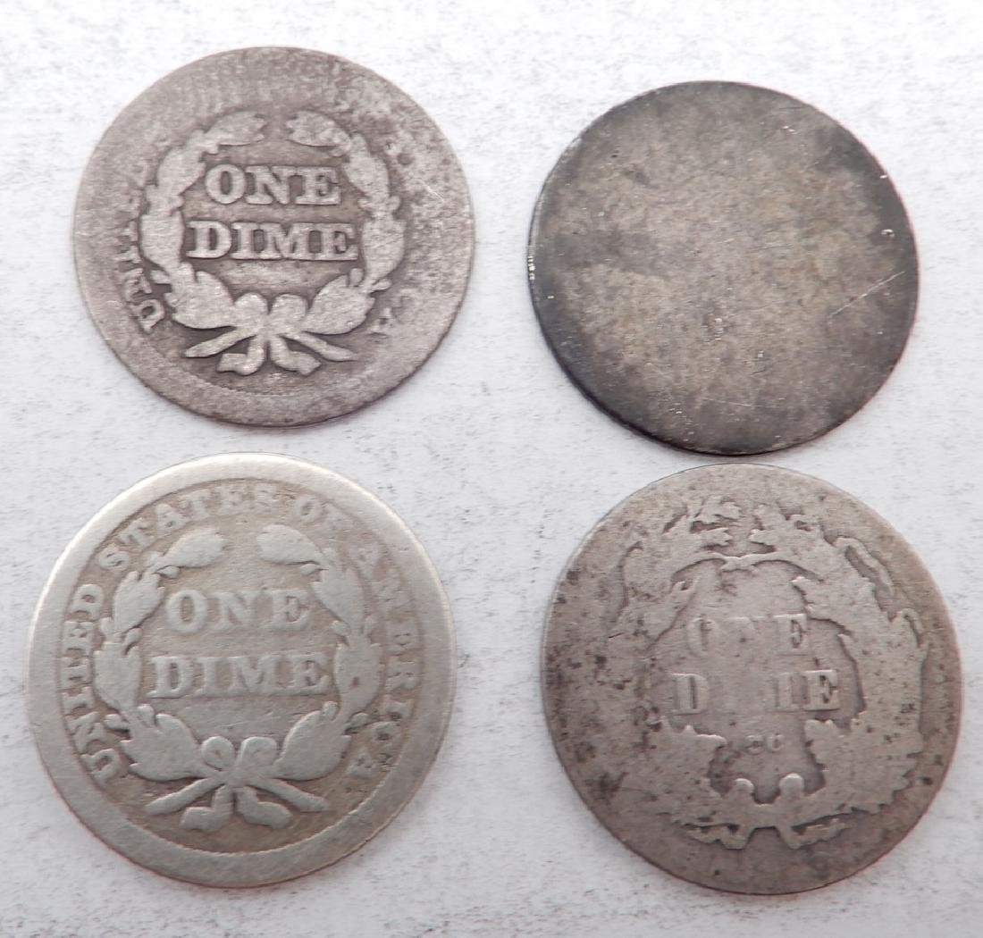 Four Seated Liberty dimes - 2