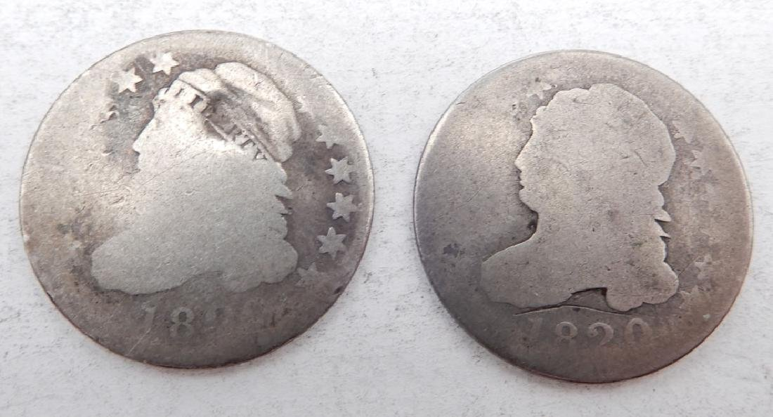 Two Capped Bust dimes