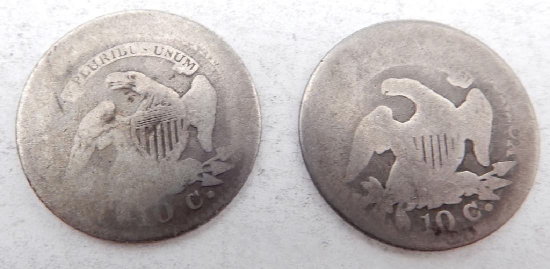 Two Capped Bust dimes - 2