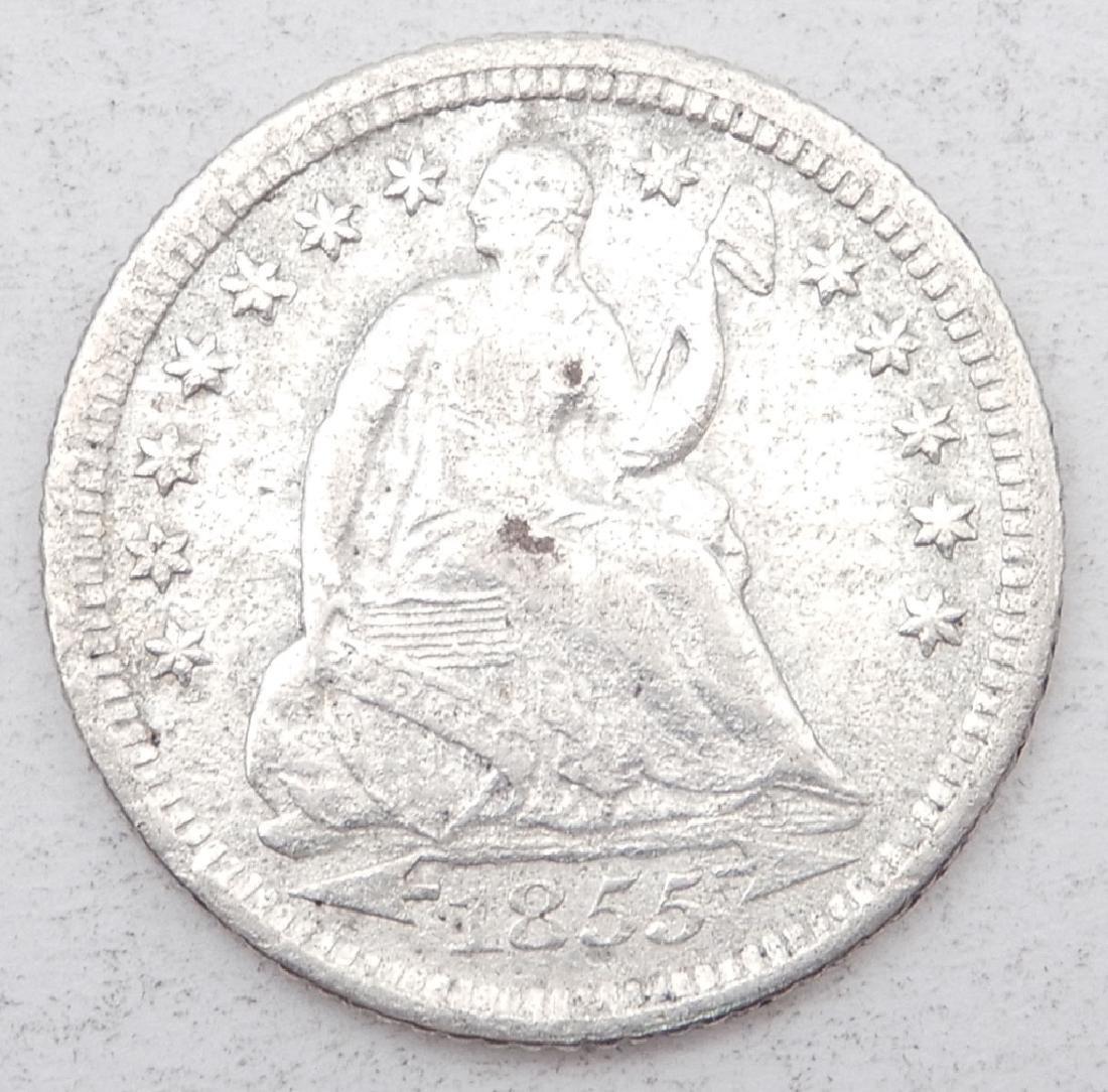 1855 Seated Liberty dime