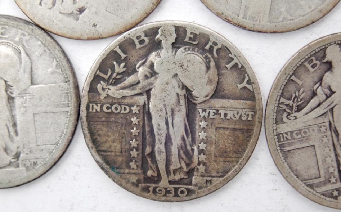 Eleven Liberty quarters - 2